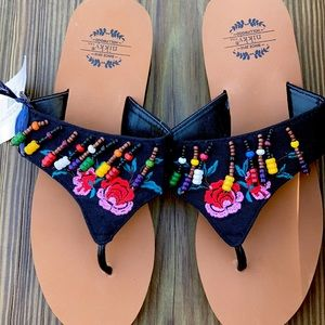 Boutique wedged flip flops 🥳 NEW WITH TAGS